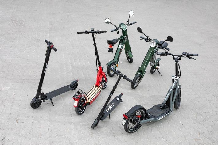 Augen auf beim E-Scooter-Kauf / Elektro-Roller für Straßenverkehr freigegeben