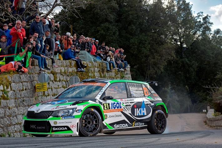 Rallye Frankreich/Tour de Corse: Private SKODA Teams feiern Doppelsieg in der WRC 2-Kategorie