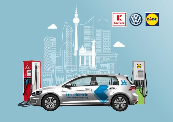 Gemeinsam urbane Mobilität gestalten: Lidl und Kaufland starten strategische Partnerschaft mit Volkswagen Ausbau der E-Ladeinfrastruktur in Berlin als Win-Win-Situation für Kunden und Partner