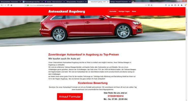 Gebrauchtwagenverkauf mit System: Autosankauf in Augsburg