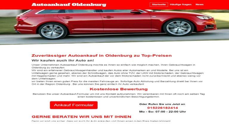 Professioneller und sicherer Autoankauf Oldenburg