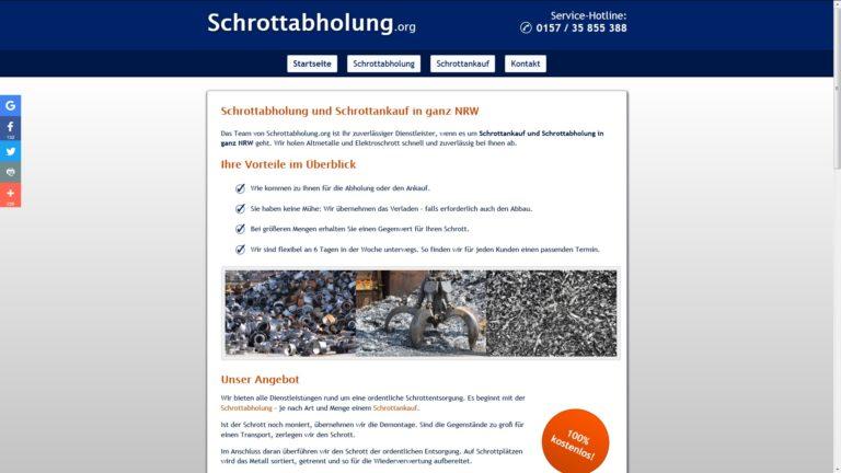Schrottabholung Recklinghausen – ein Team für optimale Lösungen