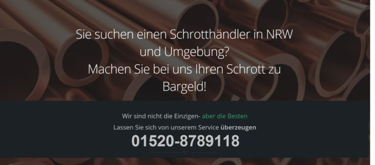 Schrottabholung Köln – Schrotthändler NRW