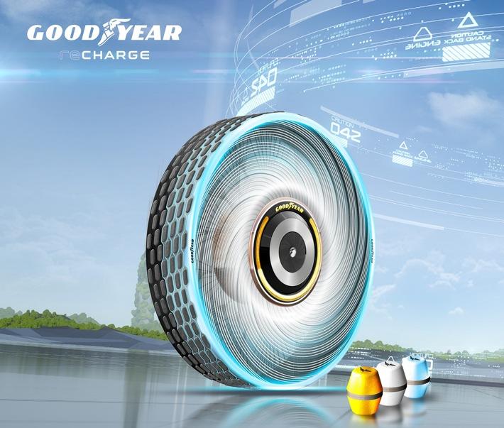 Auto-Salon Genf 2020 / Der Goodyear reCharge – ein Konzeptreifen der den Reifenwechsel erleichtert