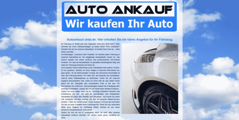 Autoankauf Waiblingen: Verkaufen Sie Heute Ihr Alten Auto in Waiblingen zum Besten Preis
