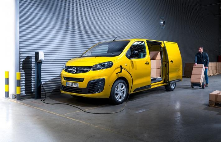 """Neuer Opel Vivaro-e: Mit dem """"e"""" für emissionsfreie Lieferungen"""