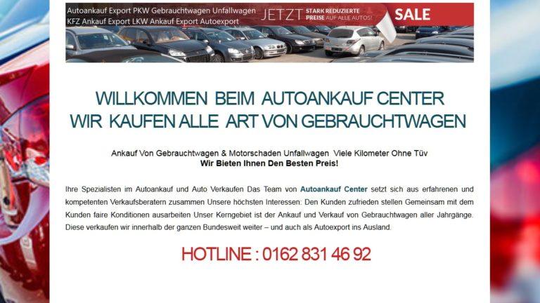 Autoankauf Saarbrücken sucht Gebrauchtwagen mit Motorschaden, autoankauf-center.de