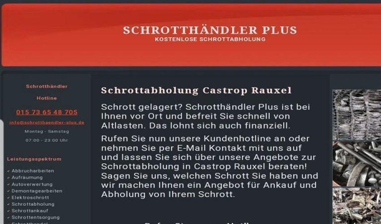 In Castrop Rauxel Kostenlos Schrottabholung Schneller Service