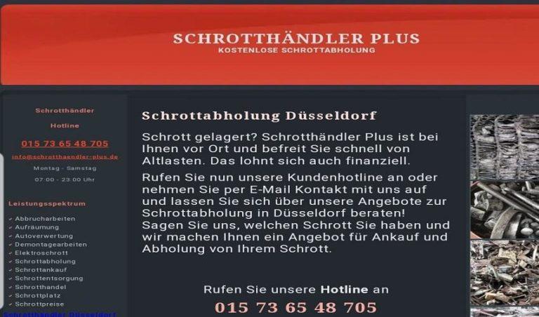 Wir Holen Ihre Schrott kostenlos ab in Düsseldorf und Umgebung