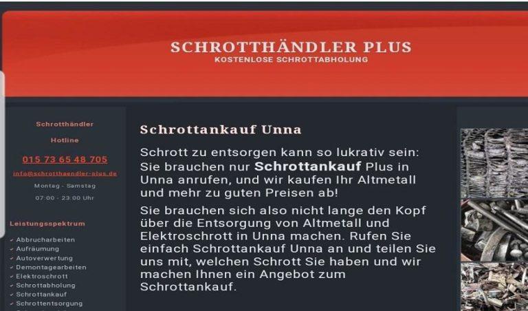 Schneller Service Schrottankauf in Unna und Umgebung