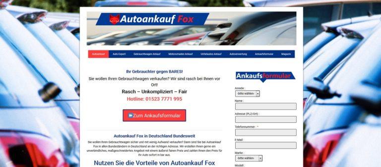 Autoankauf Fox kauft jeden Gebrauchtwagen an! Wir zahlen Höchstpreise