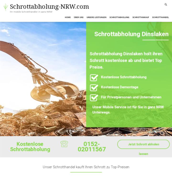 Schrottabholung Dinslaken:  ermöglicht eine professionelle und unkomplizierte Schrottentsorgung