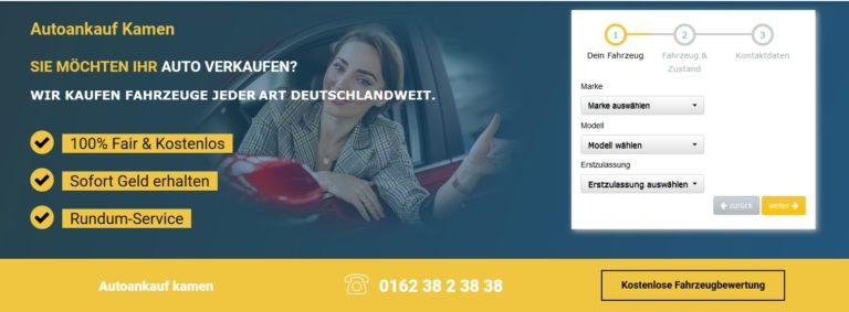 Mit Autoankauf Kamen:  Autoverkaufen leicht gemacht
