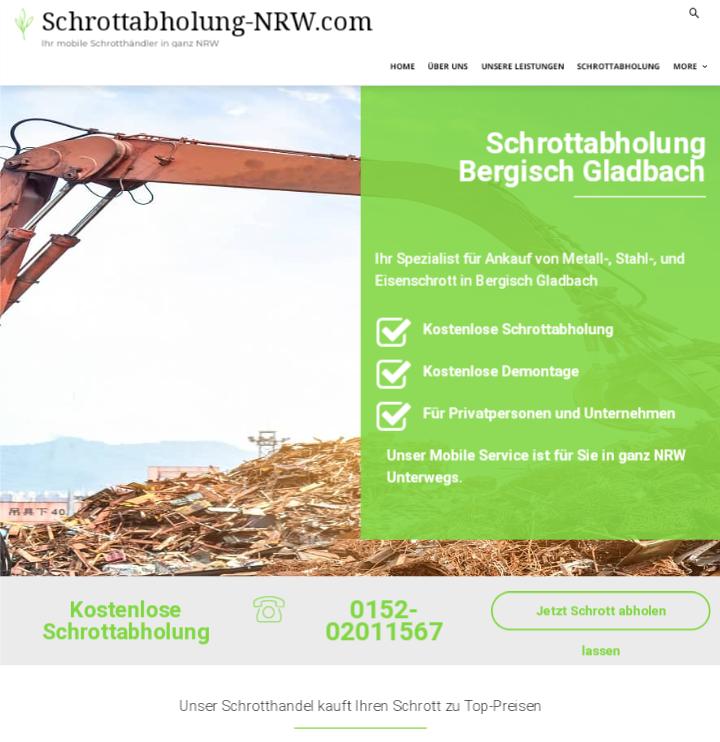 Mit dem Schrottabholung Bergisch Gladbach ist es einfach, Metallschrott loszuwerden