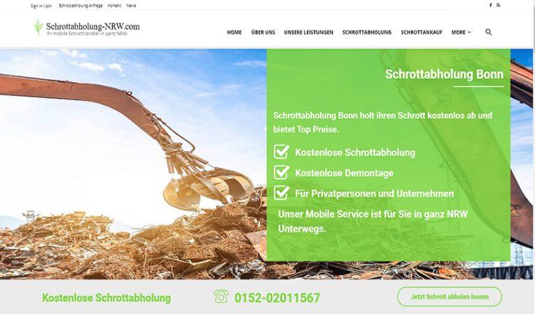 Der Schrottabholung Bonn holen Ihren Metall- und Elektroschrott ab