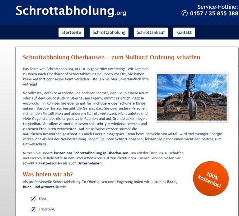 Schrottankauf in Bochum Barzahlung bei Abholung Schrottabholung.org