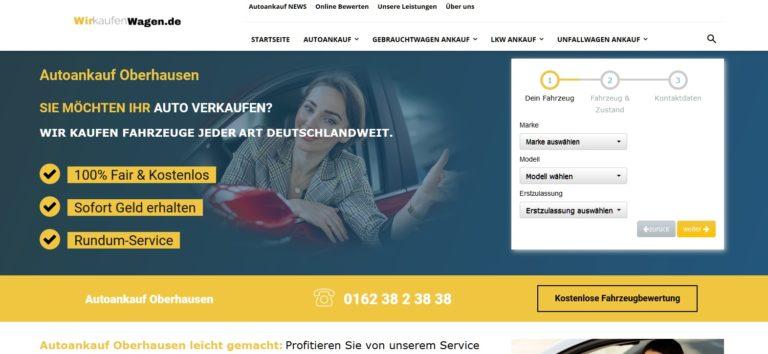 Autoankauf Oberhausen: Der Name ist Programm – nicht mehr und nicht weniger