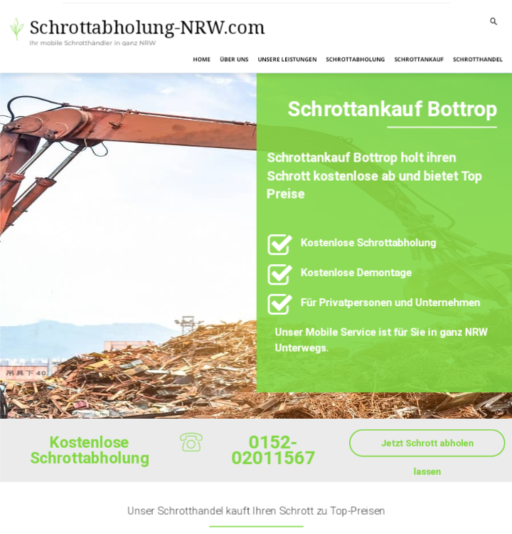 Unkomplizierte Schrottabholung und fairer Schrottankauf in Bottrop