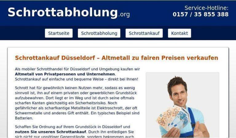 Schrottankauf in Düsseldorf – Schrottabholung.org