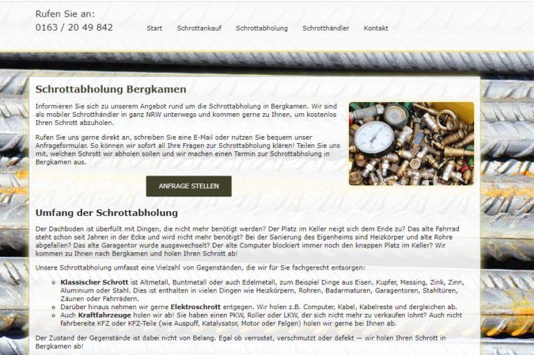 Altmetallabholung Bergkamen: Unkompliziert und Fair