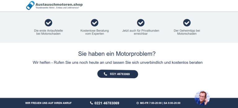 Austauschmotoren bei Motorschaden für alle Marken und Modelle: bei austauschmotoren.shop