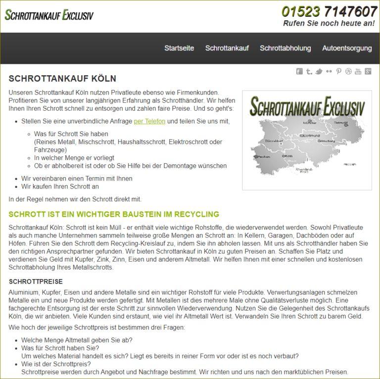 Schrottankauf Köln – Entsorgung von Altmetallen durch kostenfreie Schrottabholung