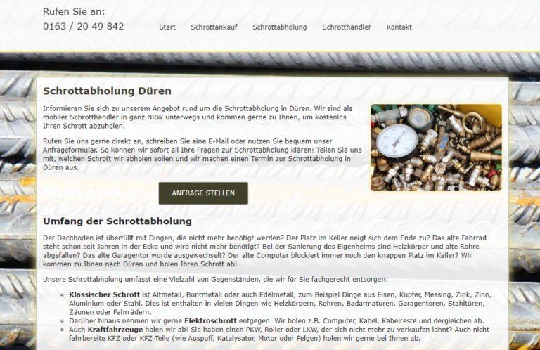 Schrottabholung Düren – Schrott-Ankauf-NRW