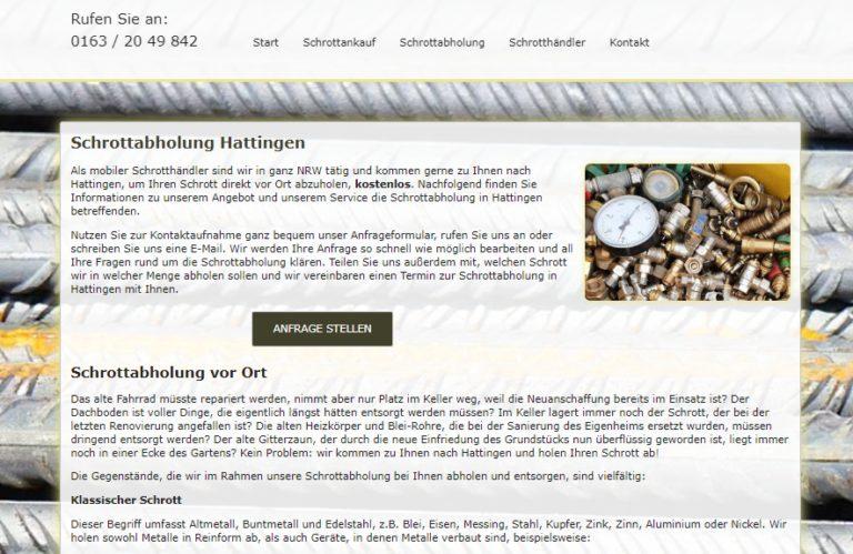 Der Kunde bestimmt, wann die Schrottabholung Erfolgen Soll – in Hattingen Und NRW