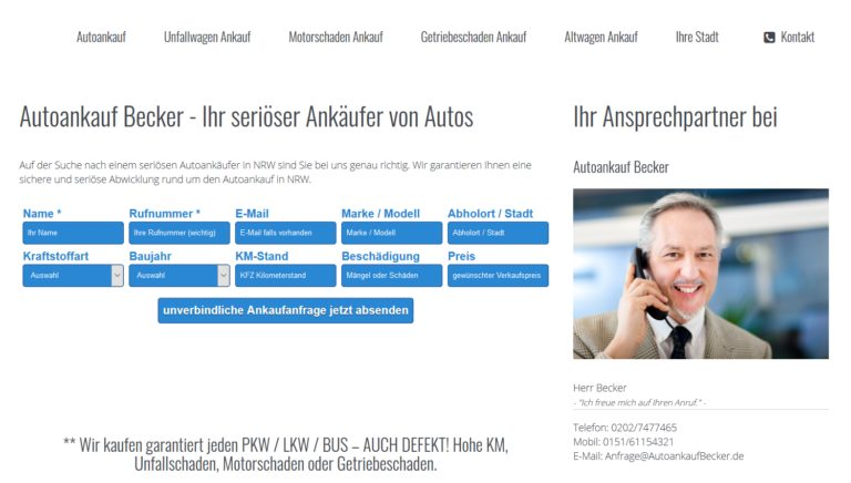 Autoankauf Köln – Auto verkaufen in Köln autoankaufbecker.de