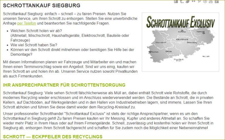 Schrottabholung Siegburg durch mobilen sachgerechten Service alten Schrott recyceln