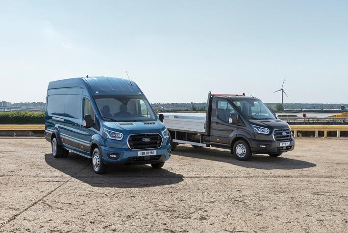 Ford Transit jetzt auch als 5-Tonner mit höherer Nutzlast lieferbar