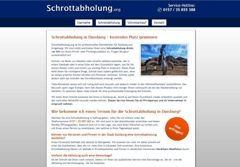 Schrottabholung Duisburg – mit Schrott Geld verdienen