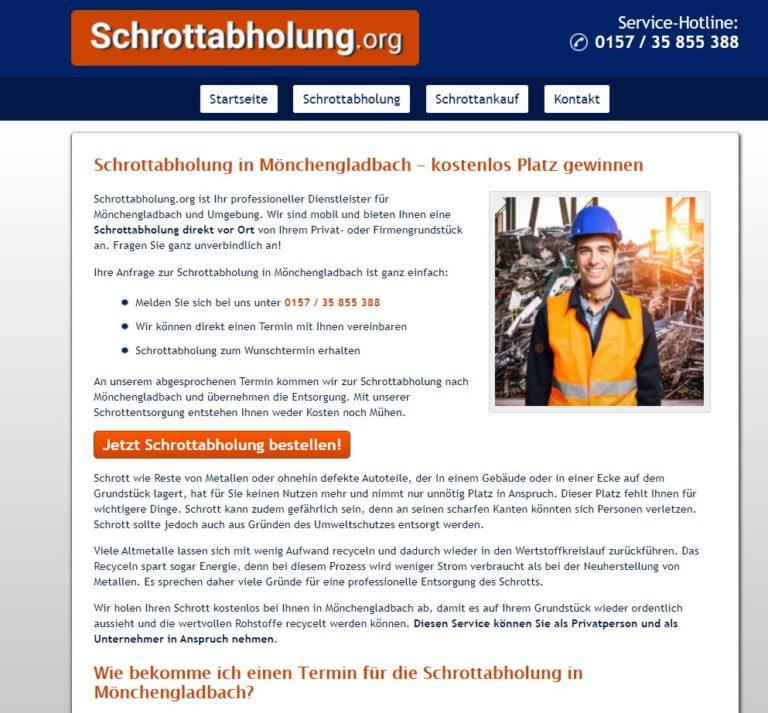 Schrottabholung Mönchengladbach – mit Schrott Geld verdienen