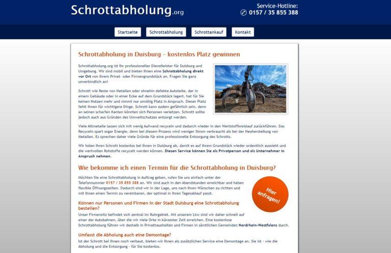 Der lokale Schrotthandel ermöglicht den Duisburgern eine kurzfristige Schrottabholung