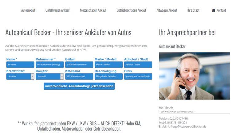 Autoankauf Becker: Sie wohnen in Duisburg und möchten Ihr Auto verkaufen?