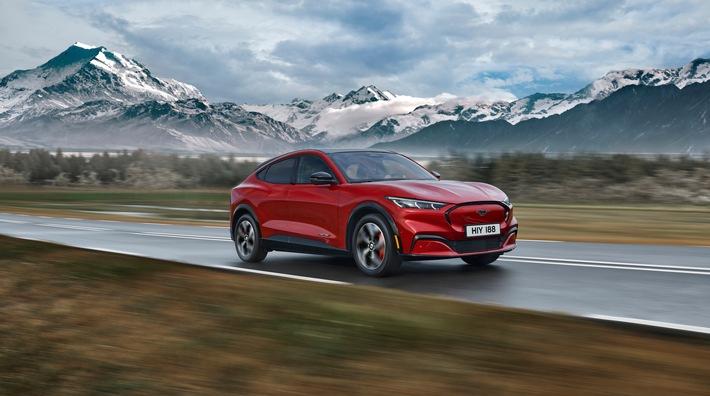 Rein elektrischer Ford Mustang Mach-E: Viel Power, Stil und das Gefühl der Freiheit für eine neue Generation Autofahrer