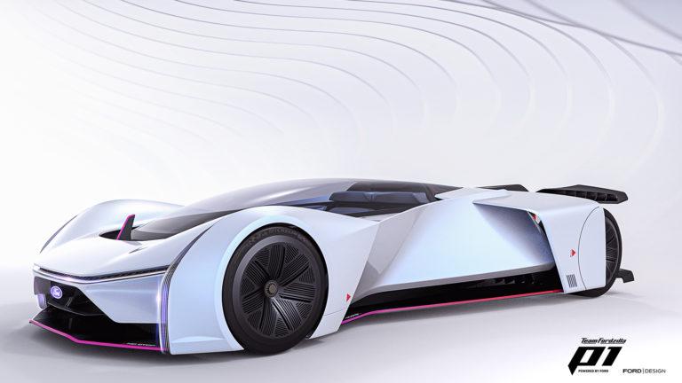 Aus Spiel wird Realität: Das virtuelle P1-Rennfahrzeug des Ford Teams Fordzilla feiert sein Debüt in der echten Welt
