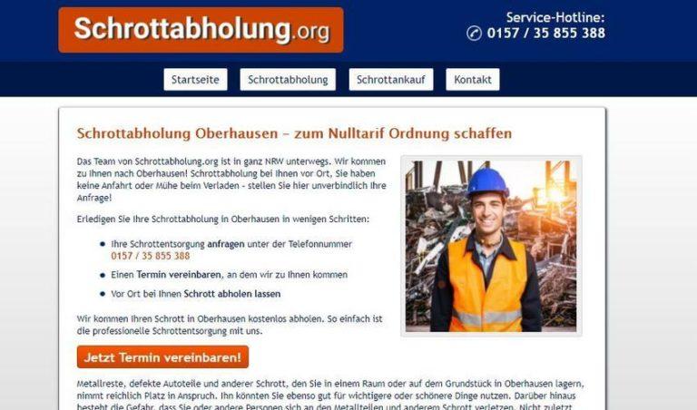 Schrottabholung Oberhausen: einfach und unkompliziert