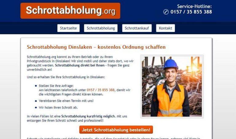 Schrottabholung Dinslaken: Der mobile Schrotthändler holt Altmetallschrott beim Kunden ab