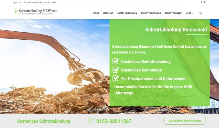 Schrott und Altmetall abholen lassen in Remscheid mit aktueller Preisliste