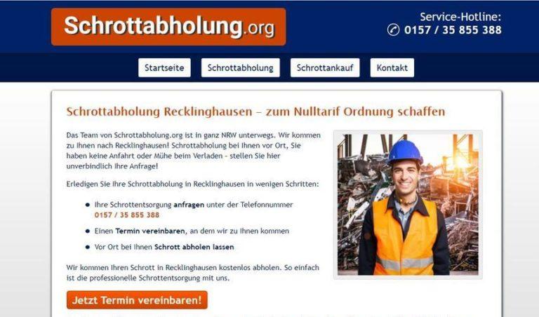 Schrottabholung Recklinghausen – die Alternative zum Sperrmülltermin