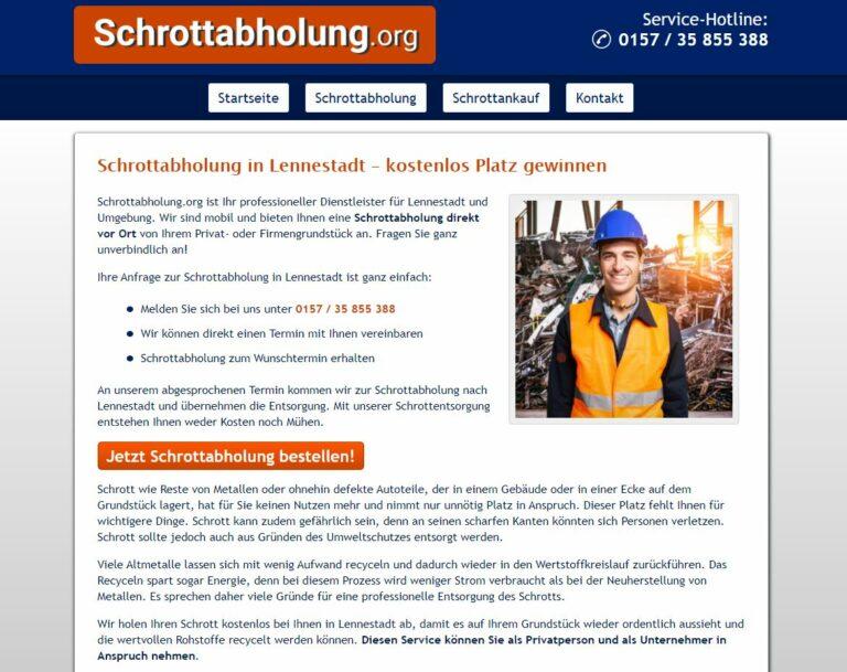 Schrottabholung Lennestadt – eine Alternative nicht nur für sortenreinen Schrott