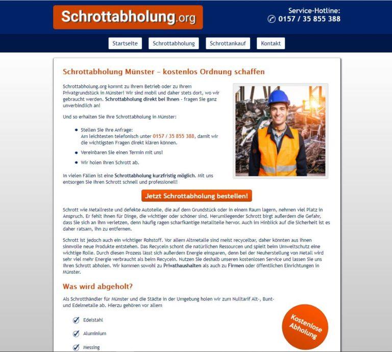 Schrottabholung Münster – Platz schaffen im Handumdrehen