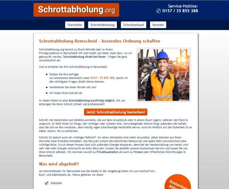 Metall aller Art abholen lassen – Professionelle Schrottabholung in Remscheid