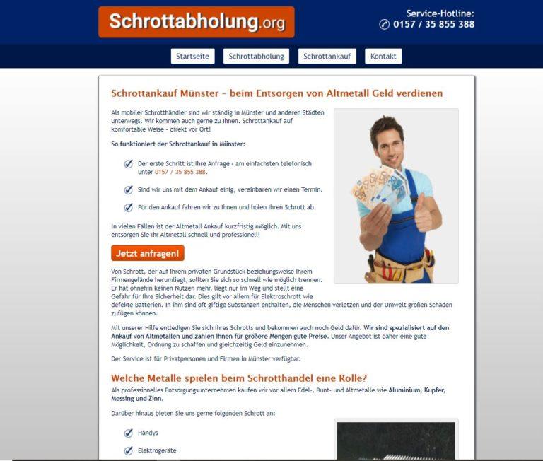 Schrottankauf Münster – ein Dienstleister für alle Schrottprobleme
