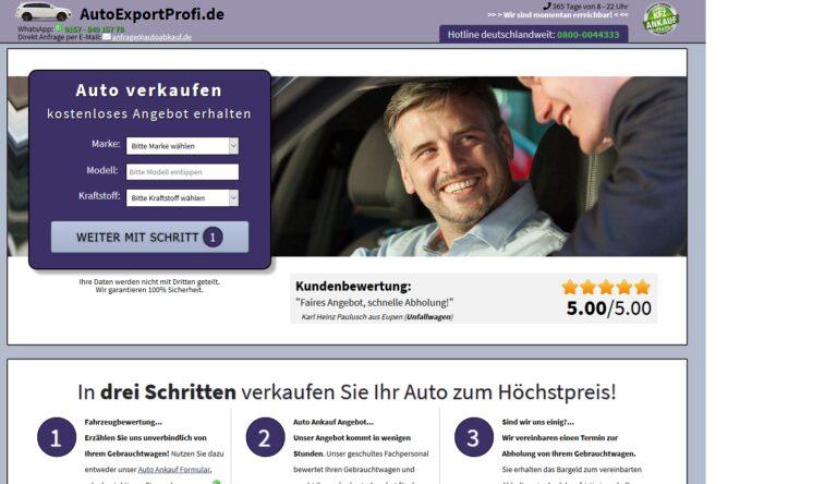 KFZ Ankauf Export – Deutschlandweite Abholung