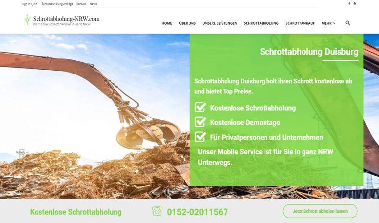 Schrottabholung Duisburg, Entsorgung über einen professionellen Schrotthändler in Duisburg