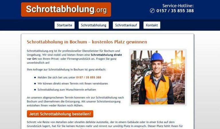 Vielen Bewohnern der Stadt ist nicht bekannt, dass die Schrottabholung Bochum ihren Mischschrott völlig kostenlos abtransportiert