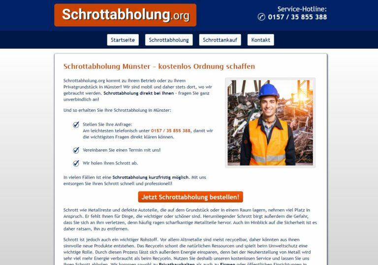 Schrottabholung in Münster für Firmenkunden und Privatkunden