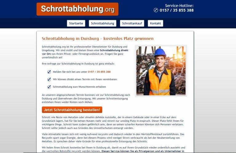 Schrottankauf und Abholung aus einer Hand mit der Schrottabholung Duisburg